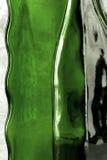 Abstrakte Zusammensetzung von den Glasflaschen Makro Stockfotos