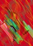 Abstrakte Zusammensetzung von Glasflaschen Lizenzfreie Stockfotos