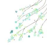 Abstrakte Zweige mit Blumen Lizenzfreies Stockfoto