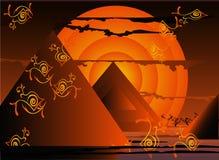 Abstrakter ägyptischer Sonnenuntergang Lizenzfreies Stockfoto