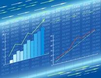Abstrakter ökonomischer Hintergrund Stockfotos