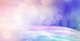 Abstrakter Übergang mit funkelnden bokeh Lichtern Lizenzfreies Stockfoto