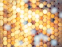 Abstrakter Achteck bokeh Hintergrund Lizenzfreies Stockbild