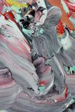 Abstrakter Acrylanstrich stockbild