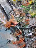 Abstrakter Acrylanstrich Lizenzfreies Stockfoto