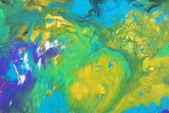 Abstrakter Acrylanstrich auf Segeltuch Lizenzfreie Stockbilder