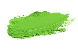 Abstrakter Acrylfarbbürstenanschlag Lokalisiert auf Weiß Stockbild