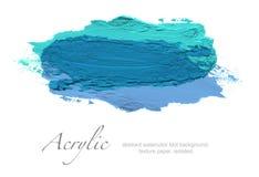 Abstrakter Acrylfarbbürstenanschlag Lokalisiert auf Weiß Lizenzfreies Stockfoto