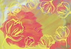 Abstrakter Acrylhintergrund Stockfoto