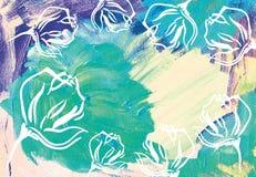 Abstrakter Acrylhintergrund Lizenzfreies Stockfoto