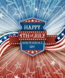 Abstrakter amerikanischer patriotischer Hintergrund mit Schild Lizenzfreie Stockfotografie