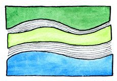 Abstrakter Aquarellanstrich stock abbildung