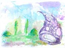 Abstrakter Aquarellhintergrund Lizenzfreie Stockbilder