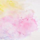 Abstrakter Aquarellhintergrund, Beschaffenheit in den empfindlichen Schatten von Frühlingsfarben Stockfotos