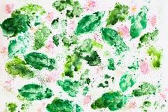 Abstrakter Aquarellhintergrund, Beschaffenheit in den empfindlichen Schatten von Frühlingsfarben auf Weißbuch Für romantischen Hi Lizenzfreie Stockbilder