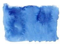 Abstrakter Aquarellhintergrund in der blauen Farbe stockbilder