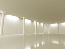Abstrakter Architektur-Design-Spalten-Hintergrund Stockfoto