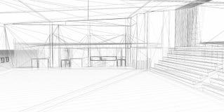 Abstrakter Architekturaufbau 3D Lizenzfreies Stockbild