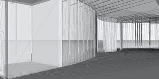 Abstrakter Architekturaufbau 3D Lizenzfreies Stockfoto