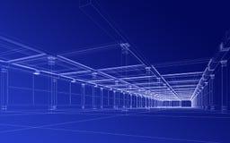 Abstrakter Architekturaufbau Stockfoto