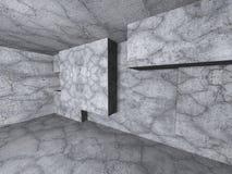 Abstrakter Architekturbetonmauerraum-Innenraumhintergrund Stockfoto