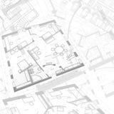 Abstrakter Architekturhintergrund lizenzfreie abbildung