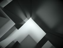 abstrakter Architekturhintergrund 3d Stockbilder