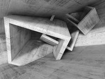 Abstrakter Architekturhintergrund, Illustration 3d Stockbild