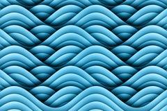 Abstrakter Art Waves Background Design Stockbild