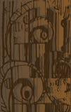 Abstrakter Aufbau in den Braun- und Schokoladentönen lizenzfreie abbildung