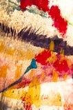 Abstrakter ausdrucksvoller Anstrich Stockfotos