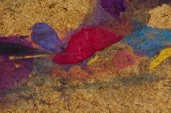 Abstrakter ausdrucksvoller Anstrich Stockbild