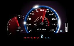 Abstrakter Autogeschwindigkeitsmesserhintergrund stock abbildung
