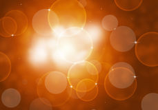 Abstrakter Autumn Bokeh Lights Lizenzfreie Stockfotografie