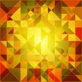 Abstrakter Autumn Colors Geometric Background Lizenzfreies Stockfoto