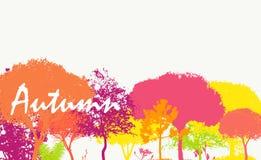 Abstrakter Autumn Natural Background Vector Stockbilder