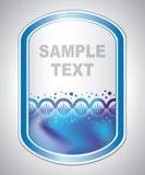 Abstrakter azurblauer Laboraufkleber Lizenzfreie Stockfotos