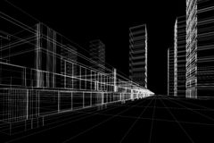 abstrakter Büroaufbau Stockfotos