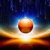 Abstrakter Basketball Stockbild