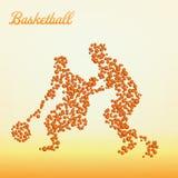 Abstrakter Basketball-Spieler stock abbildung