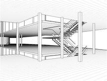 Abstrakter Bau der Linie Vektor Lizenzfreies Stockfoto