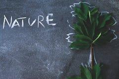 Abstrakter Baum auf einem schwarzen Hintergrundkonzept Stockbilder