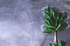 Abstrakter Baum auf einem schwarzen Hintergrundkonzept Lizenzfreie Stockfotografie