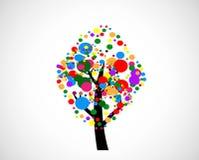 Abstrakter Baum des Designs in der Vektorillustration Stockbild