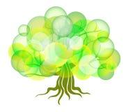 Abstrakter Baum von den Kreisen Lizenzfreie Stockfotografie