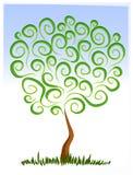 Abstrakter Baum-wachsende Klipp-Kunst stock abbildung