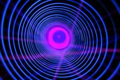 Abstrakter Begriffshintergrund mit futuristischem High-Techem Wormholetunnel stockfotografie