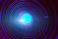 Abstrakter Begriffshintergrund mit futuristischem High-Techem Wormholetunnel lizenzfreie stockfotos