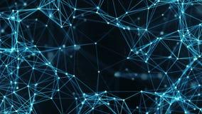 Abstrakter Bewegungs-Hintergrund - Digital-Plexus-Datennetze Alpha Matte Loop stock footage