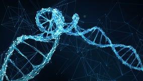 Abstrakter Bewegungs-Hintergrund - Digital-Plexus DNA-Molekül 4k Schleife stock video footage